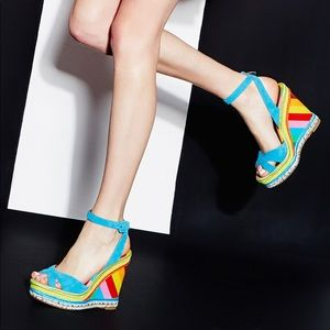 Valentino rainbow wedge 37